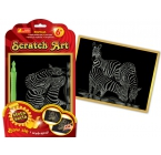 Scratch Art. Zebra