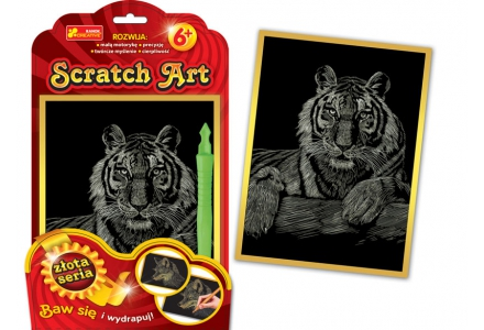 Scratch Art. Tygrys