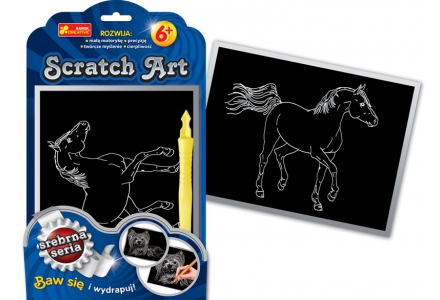 Scratch Art. Koń