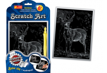 Scratch Art. Jeleń