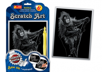 Scratch Art. Małpa