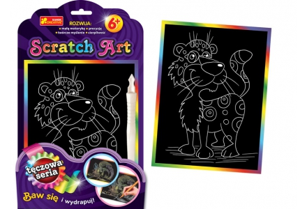 Scratch Art. Lampart